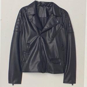 🔥NEW🔥 H&M faux leather biker jacket